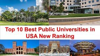 Top 10 Best Public Universities in USA | American Public University Ranking