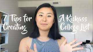 7 TIPS FOR CHOOSING A COLLEGE LIST