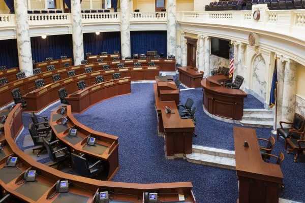 Chamber of the Idaho House of Representatives in 2018.