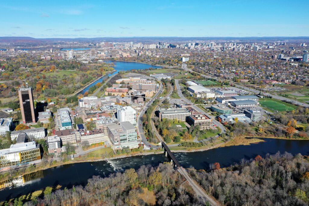 Carleton University Aerial View