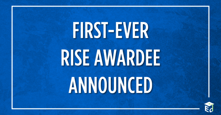 First-Ever RISE Awardee Announced